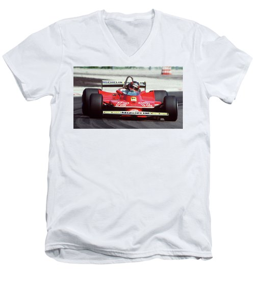 Gilles Villeneuve, Ferrari Legend - 01 Men's V-Neck T-Shirt