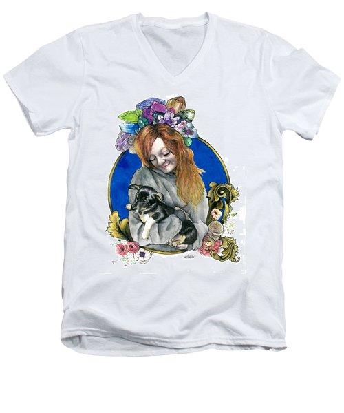 Ginger And Her Lovelies Men's V-Neck T-Shirt by Arleana Holtzmann