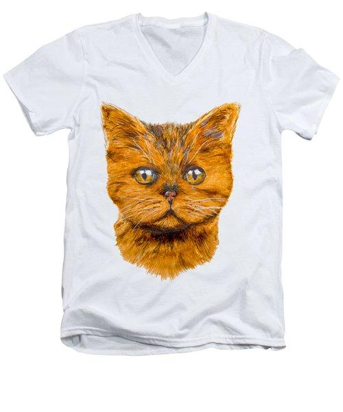 Ginger Men's V-Neck T-Shirt by John Stuart Webbstock