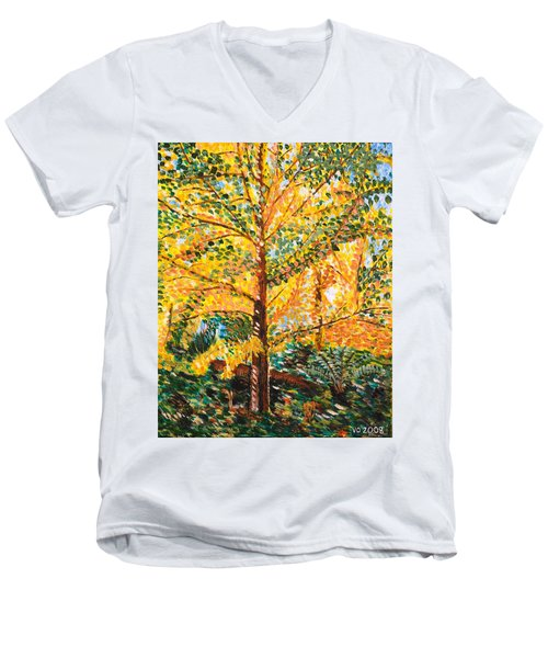 Gingko Tree Men's V-Neck T-Shirt