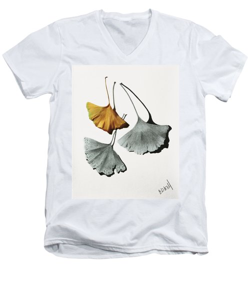 Ginkgo Leaves Men's V-Neck T-Shirt