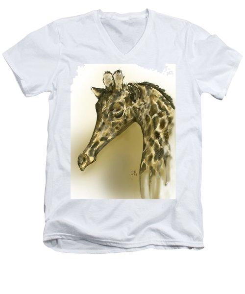Giraffe Contemplation Men's V-Neck T-Shirt