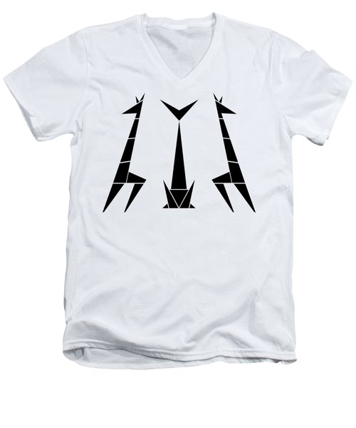 Giraffe Trio  Men's V-Neck T-Shirt