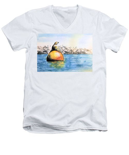 Girl And Buoy Men's V-Neck T-Shirt