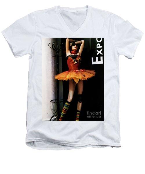 Girl_07 Men's V-Neck T-Shirt