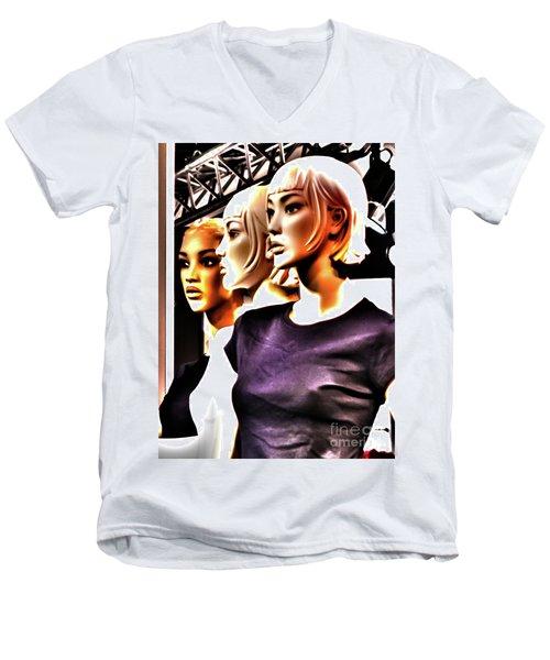 Girls_09 Men's V-Neck T-Shirt
