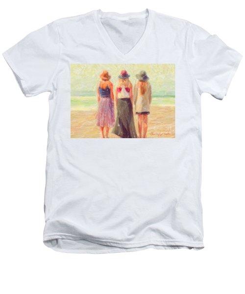 Girlfriends At The Beach Men's V-Neck T-Shirt