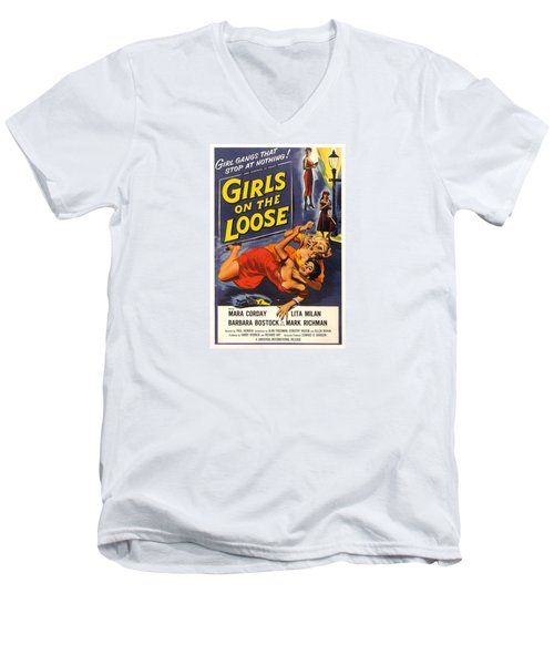 Girls On The Loose Men's V-Neck T-Shirt