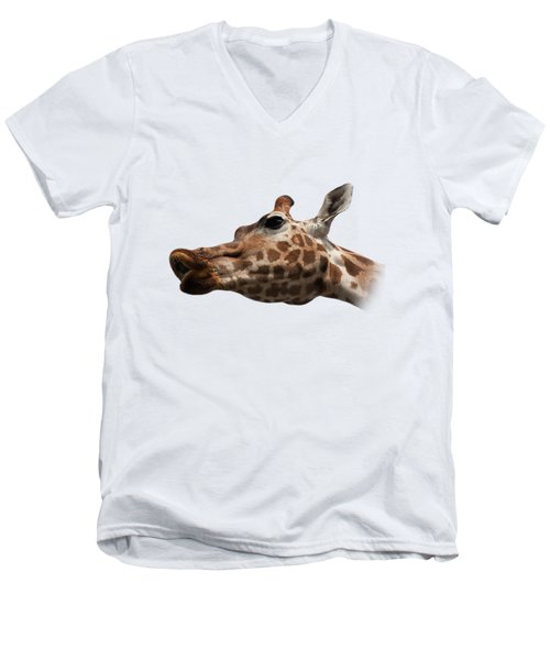 Give Us A Kiss On Transparent Background Men's V-Neck T-Shirt by Terri Waters