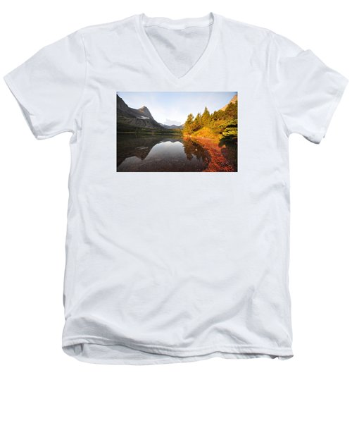 Glacier National Park Men's V-Neck T-Shirt