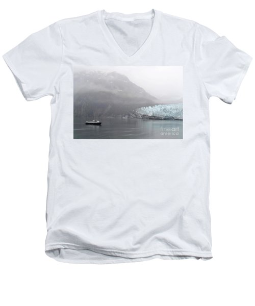 Men's V-Neck T-Shirt featuring the photograph Glacier Ride by Zawhaus Photography