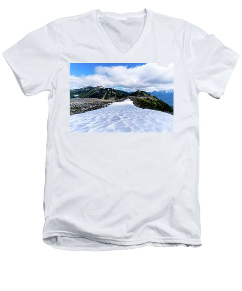 Glaciers At North Cascades Men's V-Neck T-Shirt