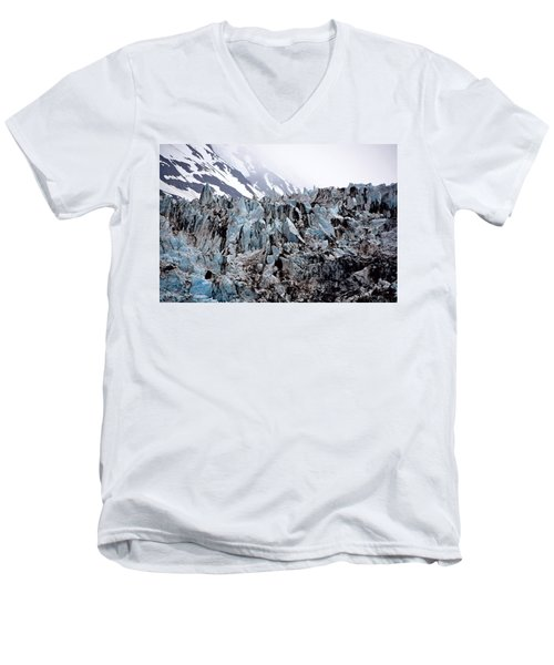 Glaciers Closeup - Alaska Men's V-Neck T-Shirt