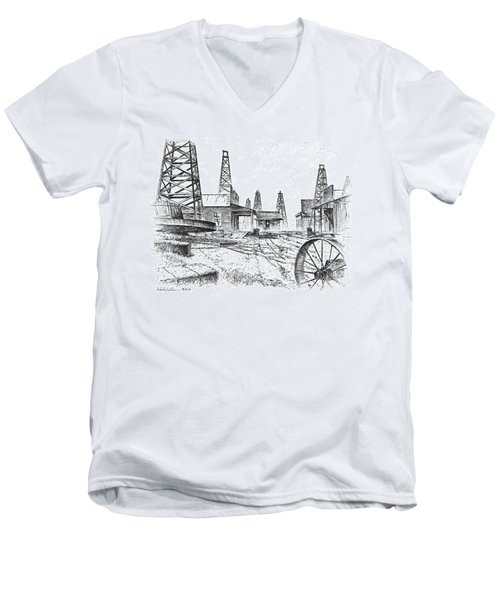 Gladys City Men's V-Neck T-Shirt