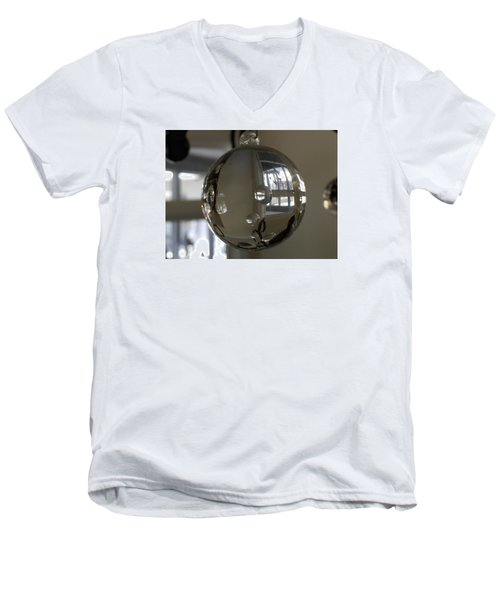 Glass Reflectons Men's V-Neck T-Shirt by Russell Keating