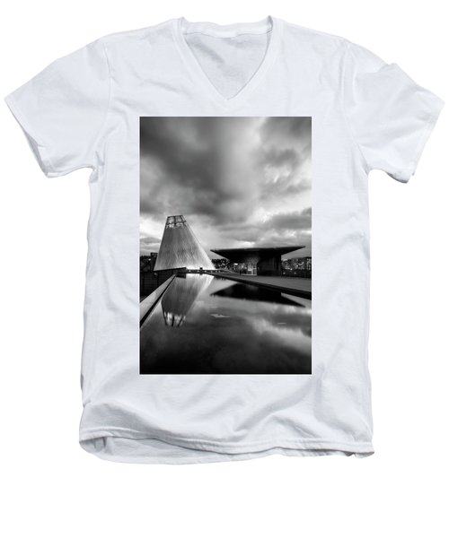 Glass Men's V-Neck T-Shirt by Ryan Manuel