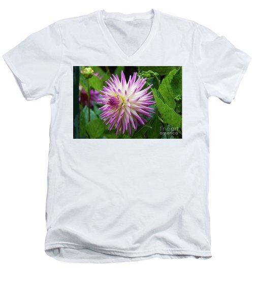 Glenbank Twinkle Dahlia 2 Men's V-Neck T-Shirt