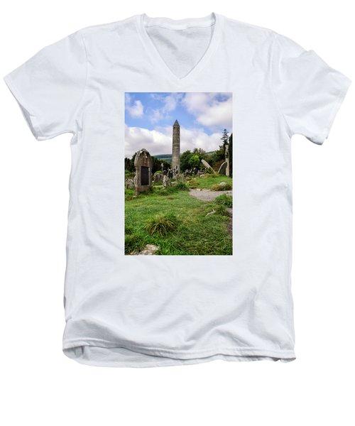 Glendalough Tower Ireland Men's V-Neck T-Shirt