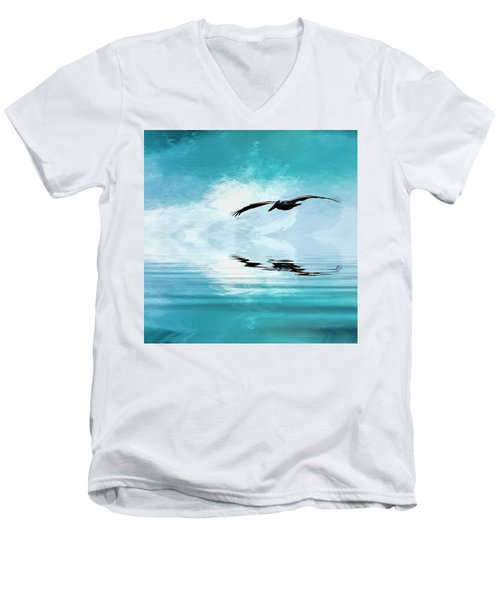 Gliding Men's V-Neck T-Shirt by Cyndy Doty