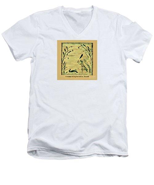 Glooscap Kills The Wolf Men's V-Neck T-Shirt