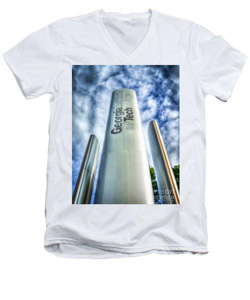 Men's V-Neck T-Shirt featuring the photograph Go Tech 2 Georgia Tech Art by Reid Callaway