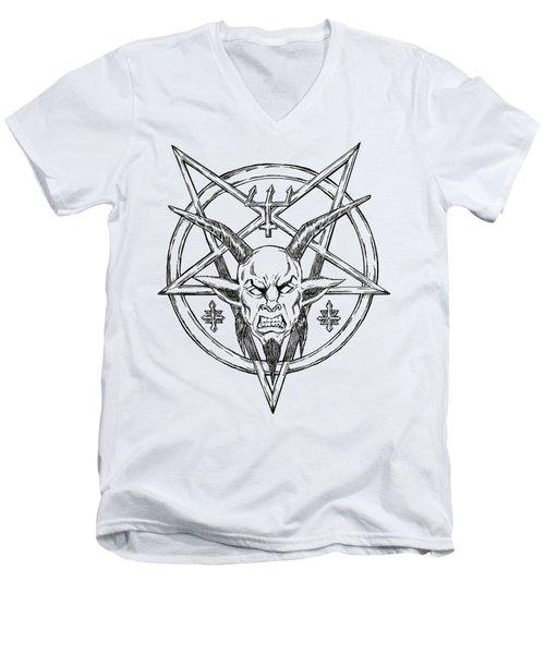 Goatlord Logo Men's V-Neck T-Shirt