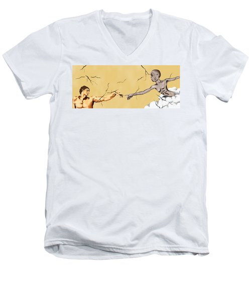 God And Man Men's V-Neck T-Shirt