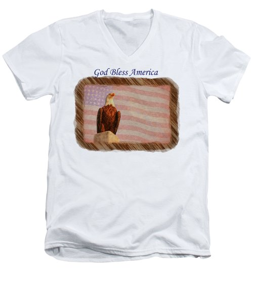 God Bless America Men's V-Neck T-Shirt