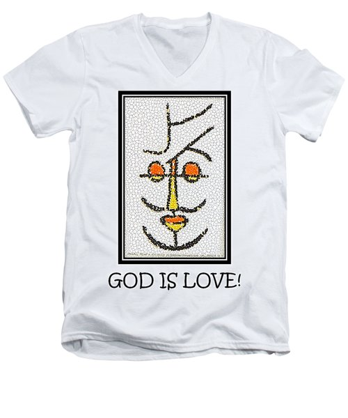 God Is Love Men's V-Neck T-Shirt