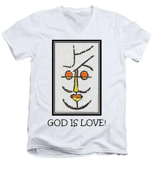 God Is Love Men's V-Neck T-Shirt
