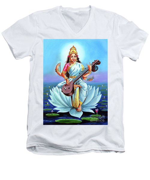 Goddess Of Wisdom And Knowledge Men's V-Neck T-Shirt