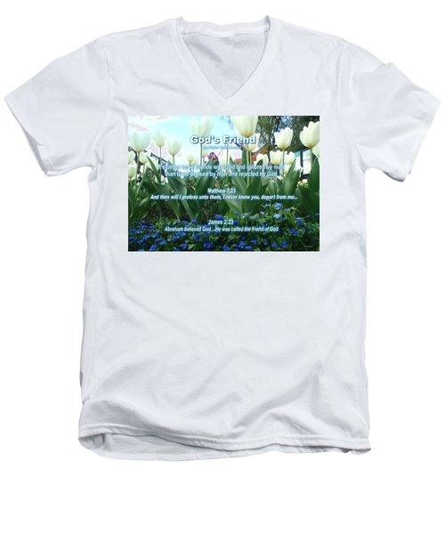 Gods Friend Men's V-Neck T-Shirt
