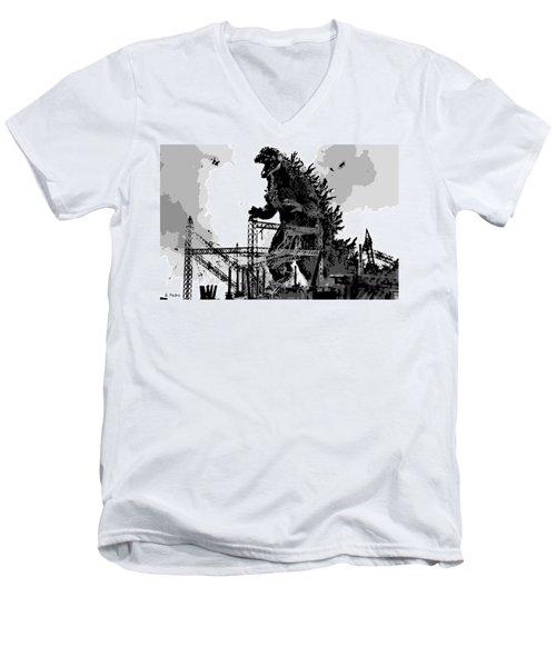 Godzilla Men's V-Neck T-Shirt