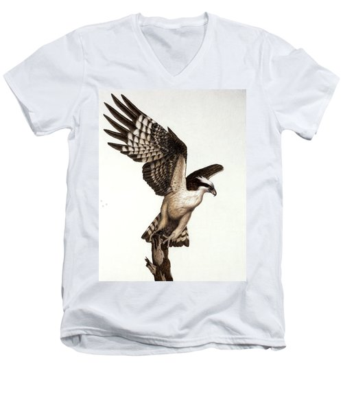 Going Fishin' Osprey Men's V-Neck T-Shirt