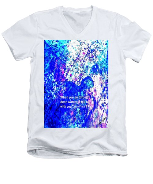 Going Through Deep Waters Men's V-Neck T-Shirt by Hazel Holland