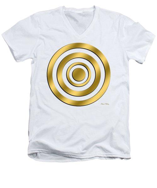 Gold Circles Men's V-Neck T-Shirt