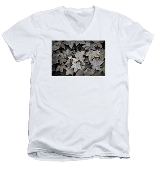 Gold Copper And Silver Leaves 1 Men's V-Neck T-Shirt