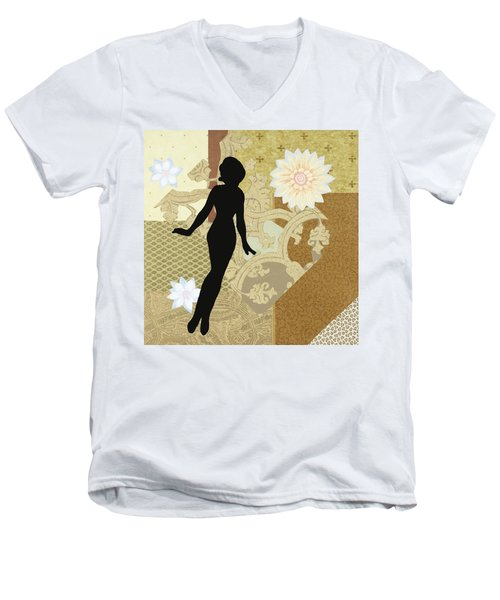 Gold Paper Doll Men's V-Neck T-Shirt