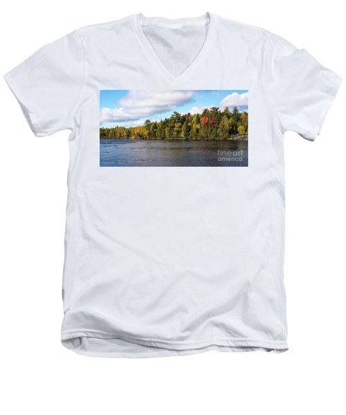 Golden Autum Day Men's V-Neck T-Shirt