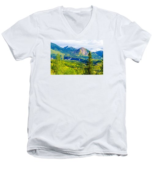 Golden Denali Men's V-Neck T-Shirt