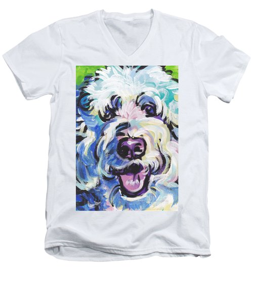 Golden Doodly Dee Men's V-Neck T-Shirt