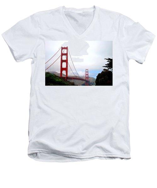 Golden Gate Bridge Full View Men's V-Neck T-Shirt by Matt Harang