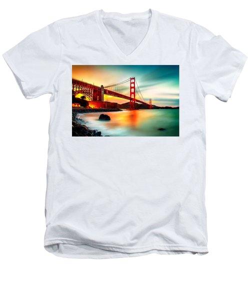 Golden Gateway Men's V-Neck T-Shirt