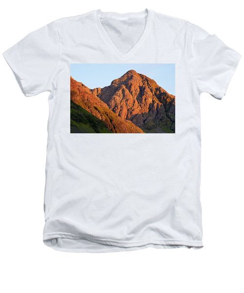 Golden Light Hits Bidean Nam Bian Men's V-Neck T-Shirt