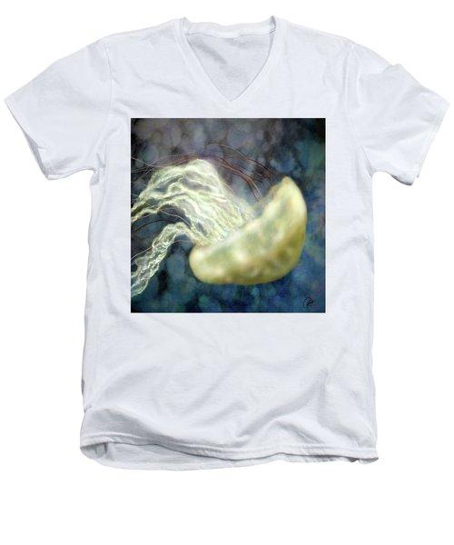 Golden Light Jellyfish Men's V-Neck T-Shirt