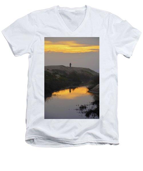 Golden Moments Men's V-Neck T-Shirt by Deprise Brescia