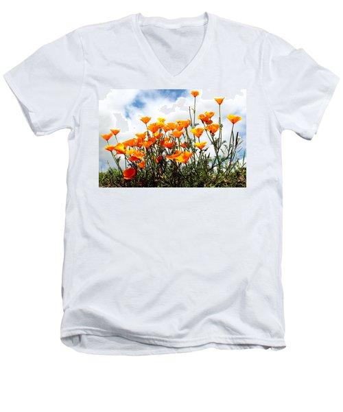 Golden Poppies Men's V-Neck T-Shirt