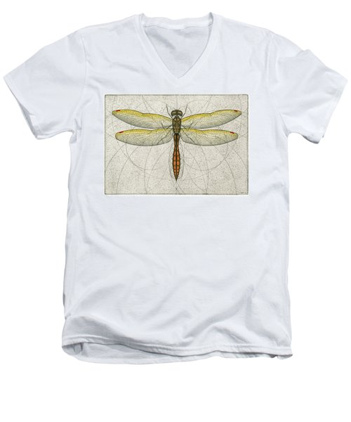 Golden Winged Skimmer Men's V-Neck T-Shirt