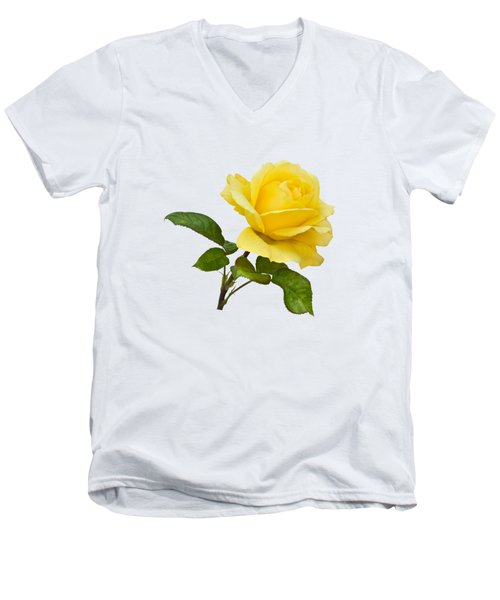 Men's V-Neck T-Shirt featuring the photograph Golden Yellow Rose by Jane McIlroy