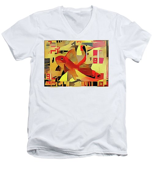 Goldfish #1 Men's V-Neck T-Shirt